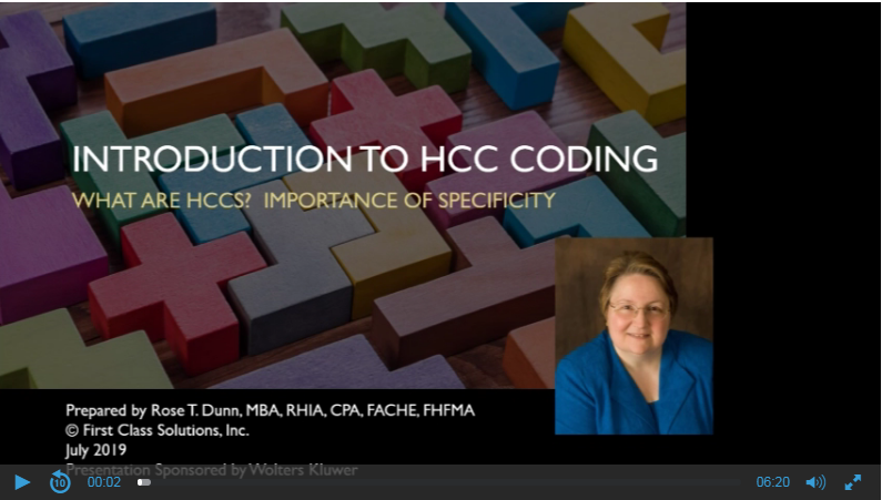 Intro to HCC Coding: What are HCCs? Importance of Specificity