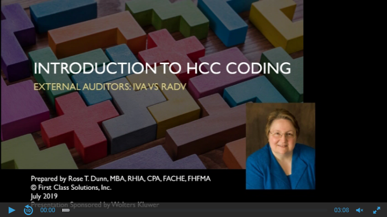 Intro to HCC Coding: External Auditors: IVA vs RADV