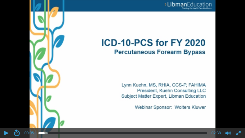 ICD-10-PCS for FY 2020: Percutaneous Forearm Bypass