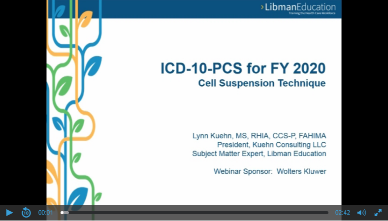 ICD-10-PCS for FY 2020: Cell Suspension Technique