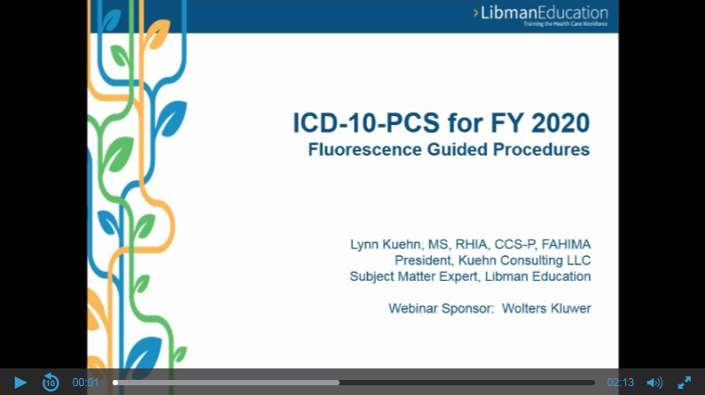 ICD-10-PCS for FY 2020: Fluorescence Guided Procedures